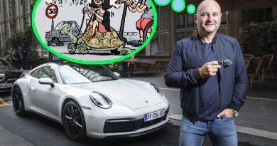 Cauet et sa Porsche en 2019