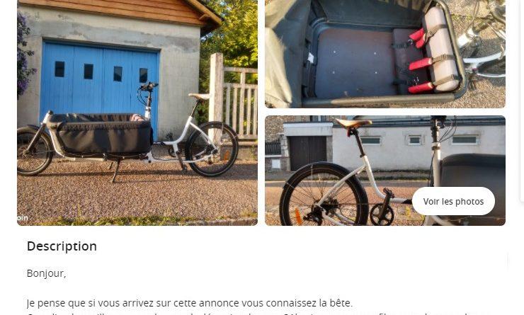 Vélo cargo: Comment estimer le prix d'occasion?